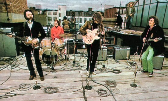 The historic performance on the roof, their last public performance