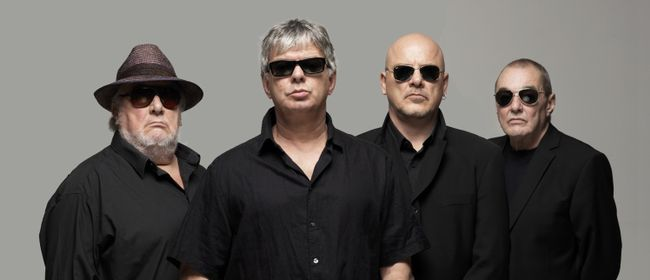 The most recent line-up: Jet Black, JJ Burnel, Baz Warne, & Dave Greenfield