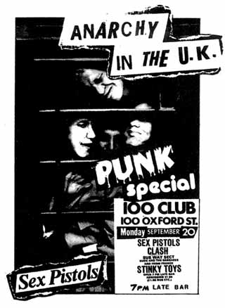 Flyer for the Punk Special festival at the 100 Club