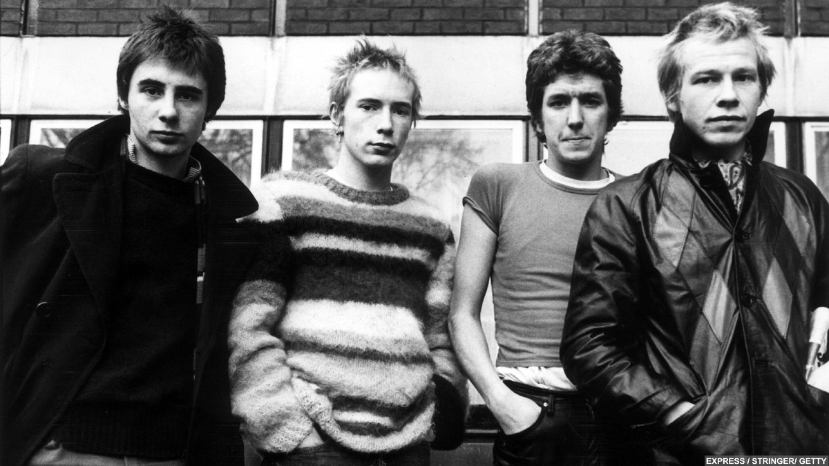The Early Sex Pistols: Steve Jones, Johnny Rotten, Glen Matlock, and Paul Cook