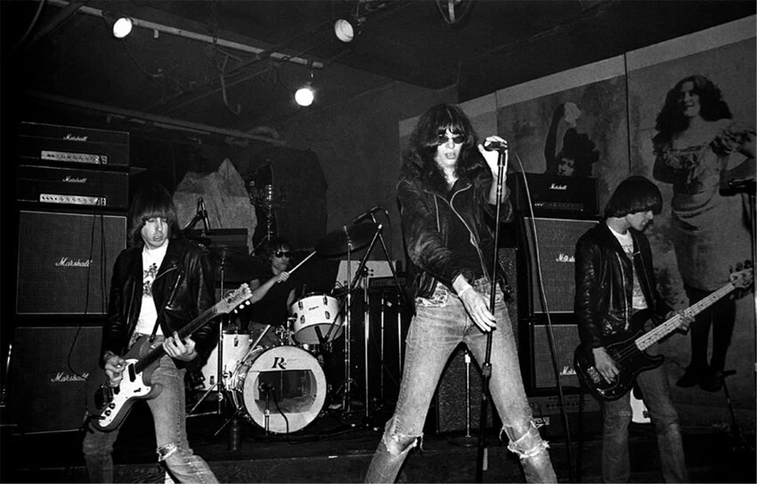 The Ramones at CBGBs in 1977