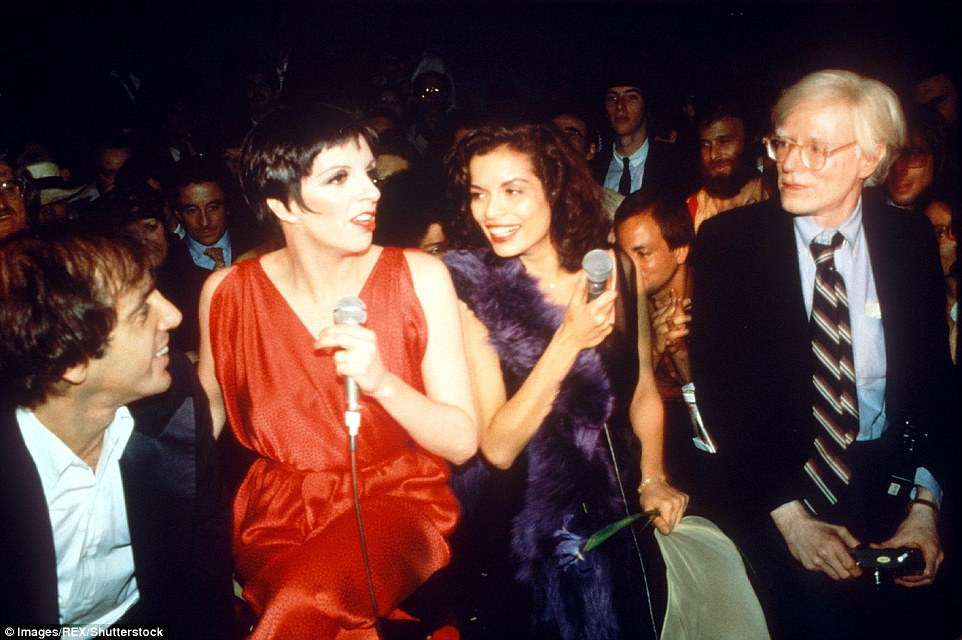 Studio 54 co-founder and co-owner Steve Rubell with Liza Minnelli, Bianca Jagger, and Andy Warhol in 1977