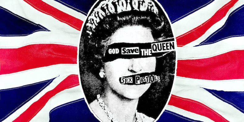The single's promo poster with the picture that offended patriots during the jubilee
