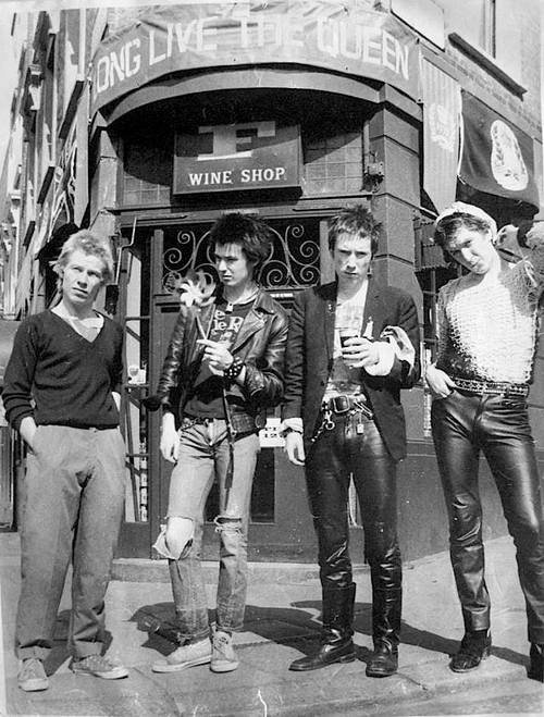 Sex Pistols: Paul Cook, Sid Vicious, Johnny Rotten, and Steve Jones