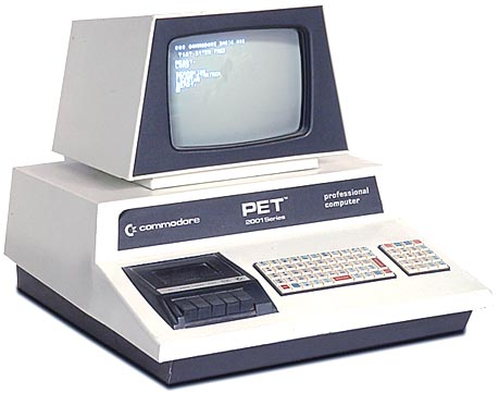 The Commodore PET 2001, the first personal computer sold to the public