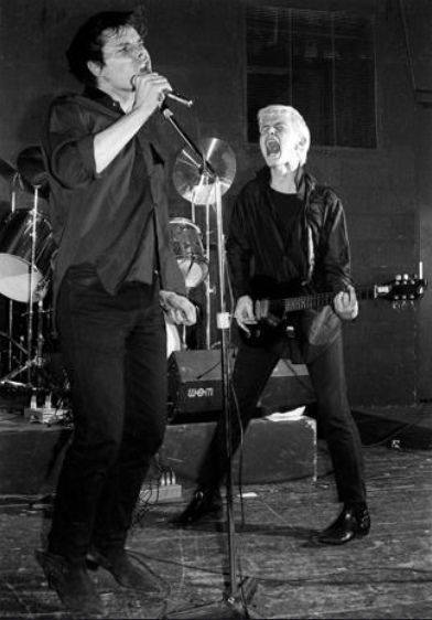Gene October and William Broad (not yet Billy Idol) of the band, Chelsea