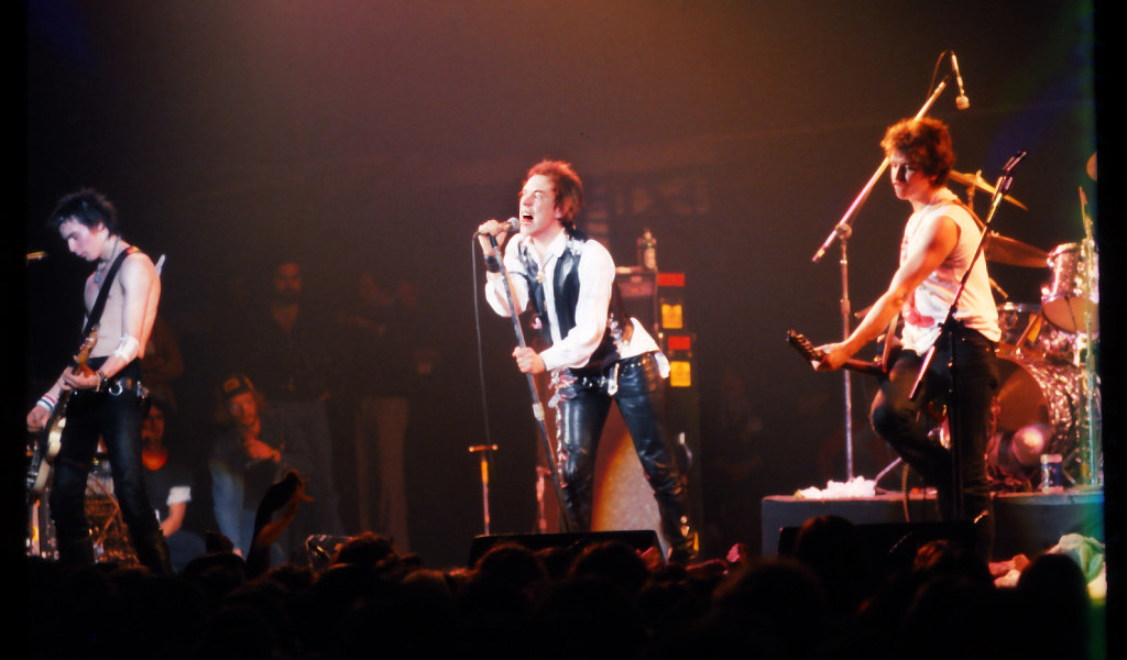 Sex Pistols in their final performance, San Francisco, January 14, 1978