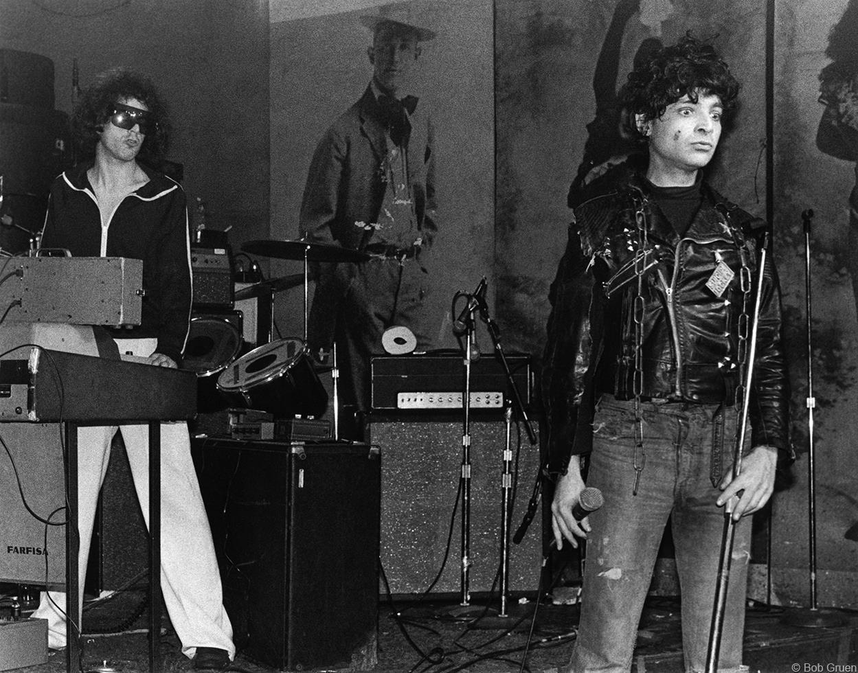 Suicide: Martin Rev and Alan Vega, performing at CBGBs, 1977