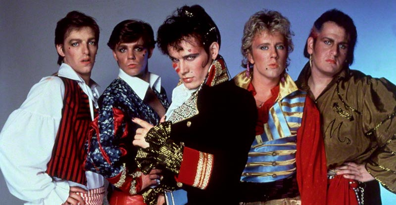 Adam and the Ants circa  Prince Charming : Merrick, Terry Lee Miall, Adam Ant, Gary Tibbs, and Marco Pirroni