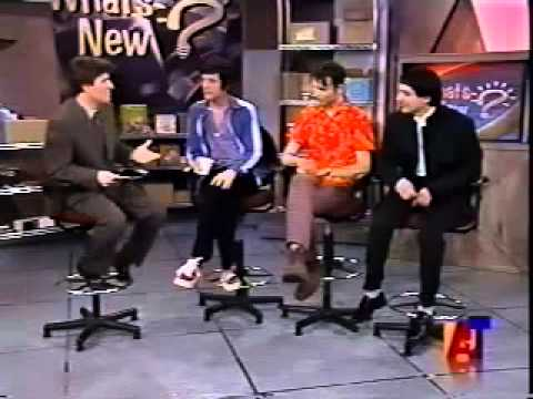 The only photo of Modern English to be found from this era, a YouTube still taken from an MTV performance and interview. L to R: Robbie Grey, Matthew Shipley, & Ted Mason.