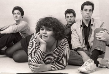 Romeo Void in 1981 (L to R): Pete Woods; Debora Iyall; Benjamin Bossi; Frank Zincavage