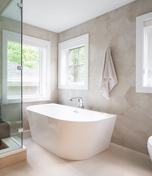 The bright and inviting master ensuite at our newest custom home in Point Grey.  Interior Design: @moordesign  Photo: @ishot.ca  Built By: @asanti.homes