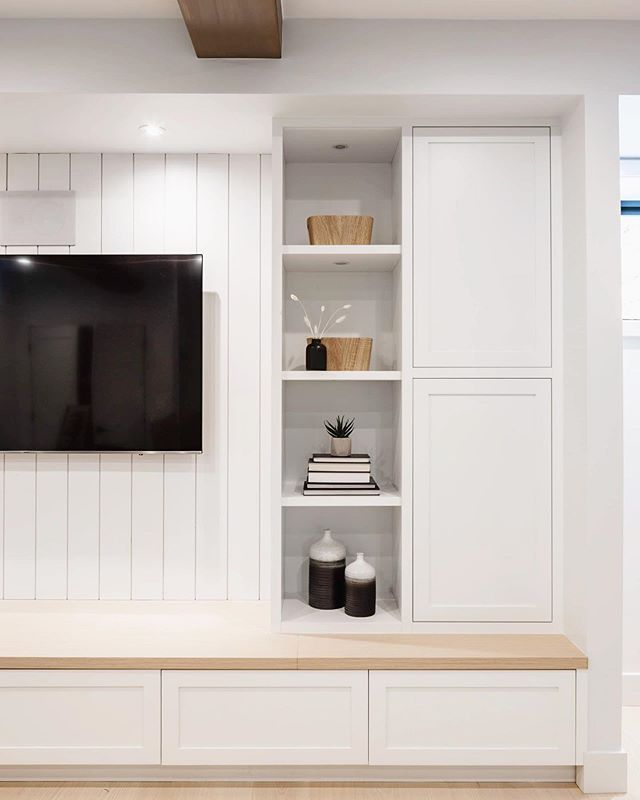 Family Room millwork details at our 17th Ave custom home in #Vancouver.  Photo: @ishot.ca  Interior Design: @moordesign  Built By: @asanti.homes