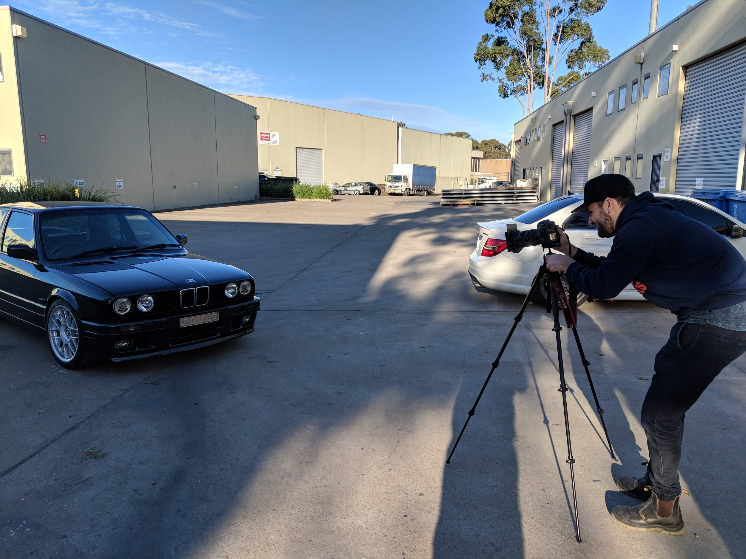 Professional photographer and auto enthusiast Michael (Instagram @afterdaark) was all too happy when asked to do a photo shoot for this immaculate E30.