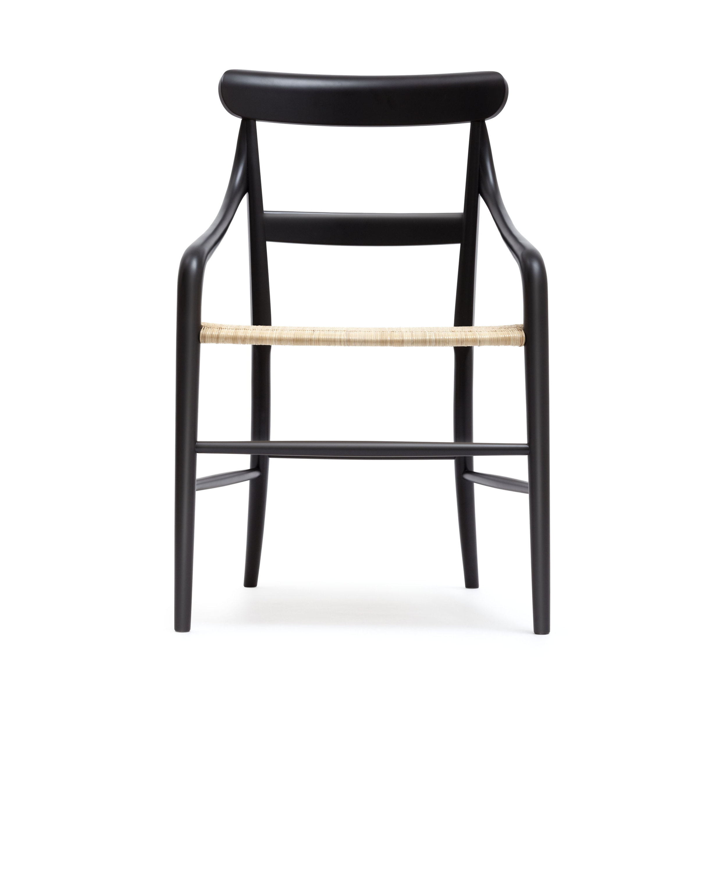 CC01 Lacquered wood, cane seat