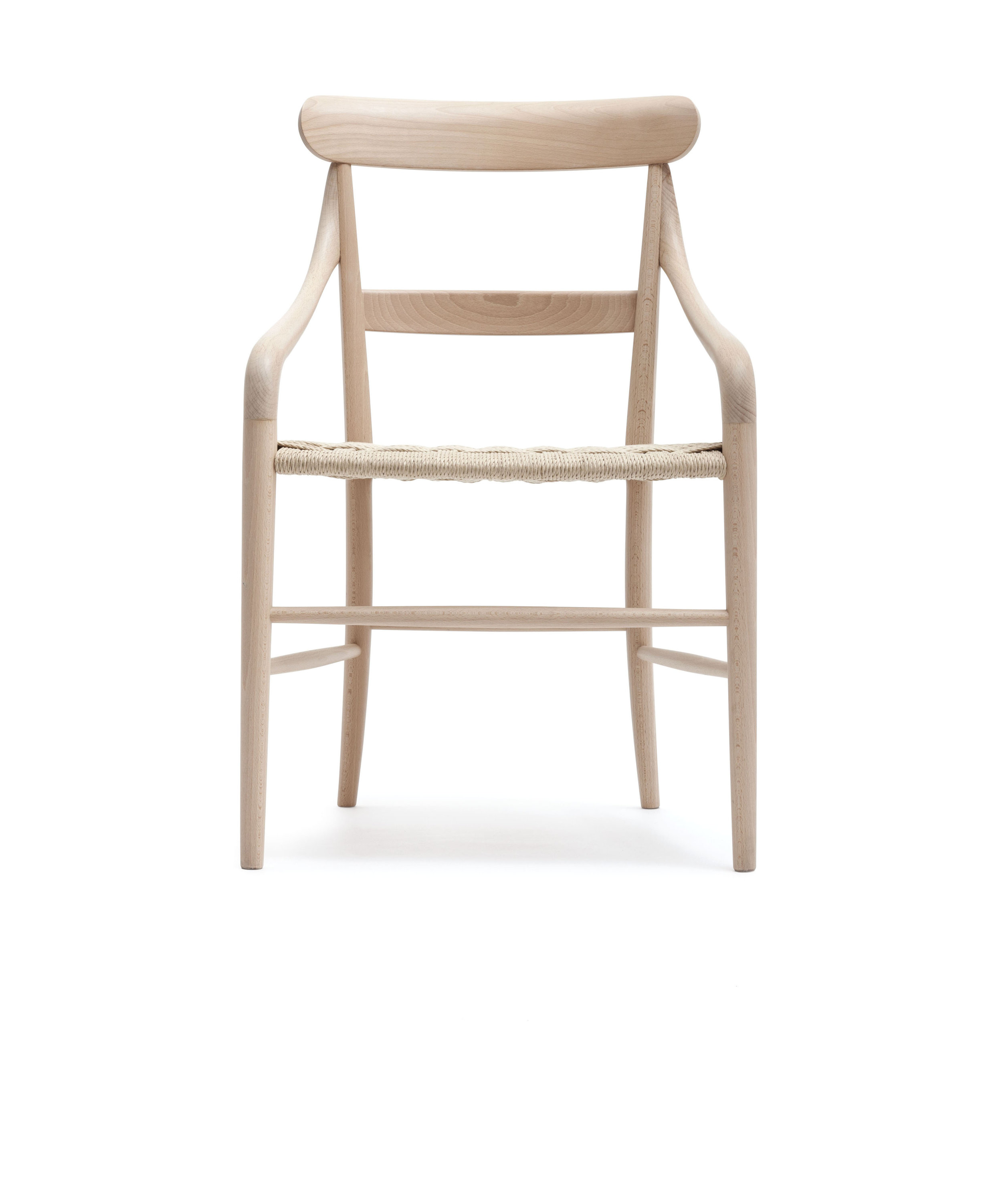 CC01 Natural Beech wood, paper cord seat