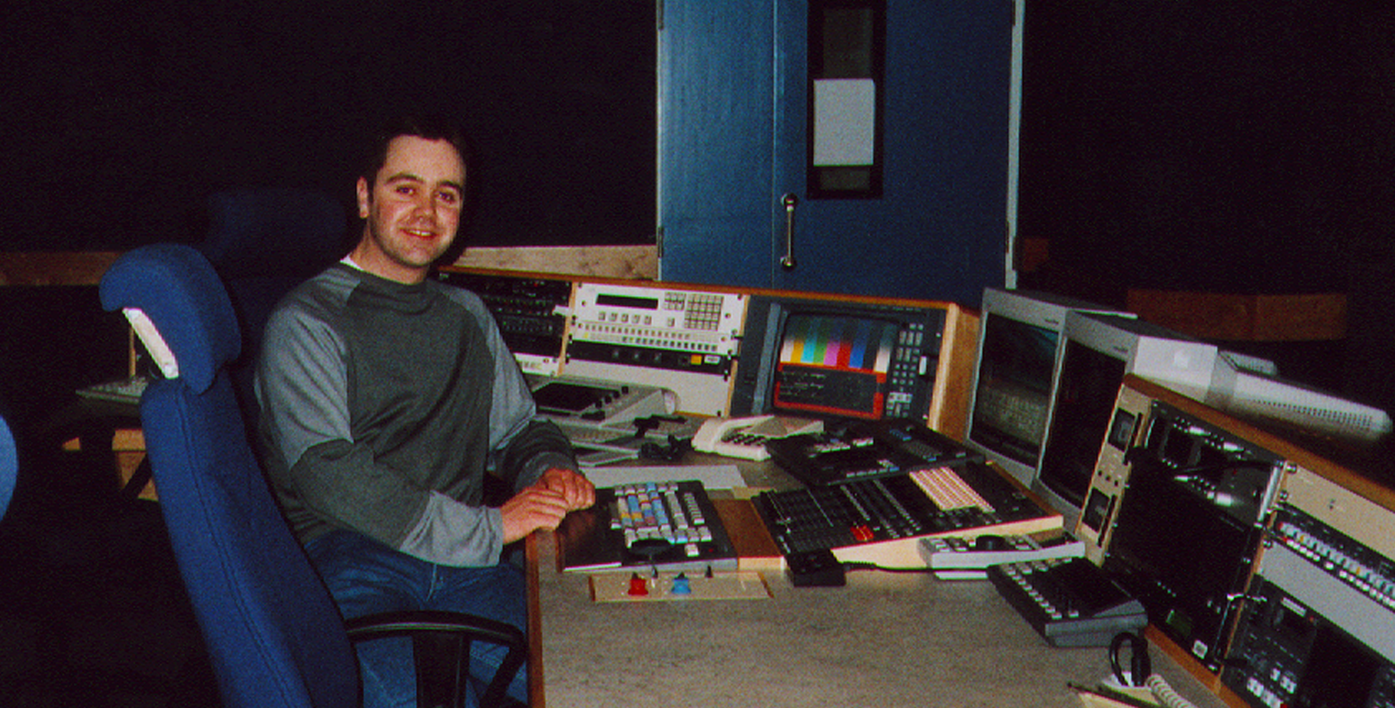 Proof that long ago, Mark was a vt editor. -
