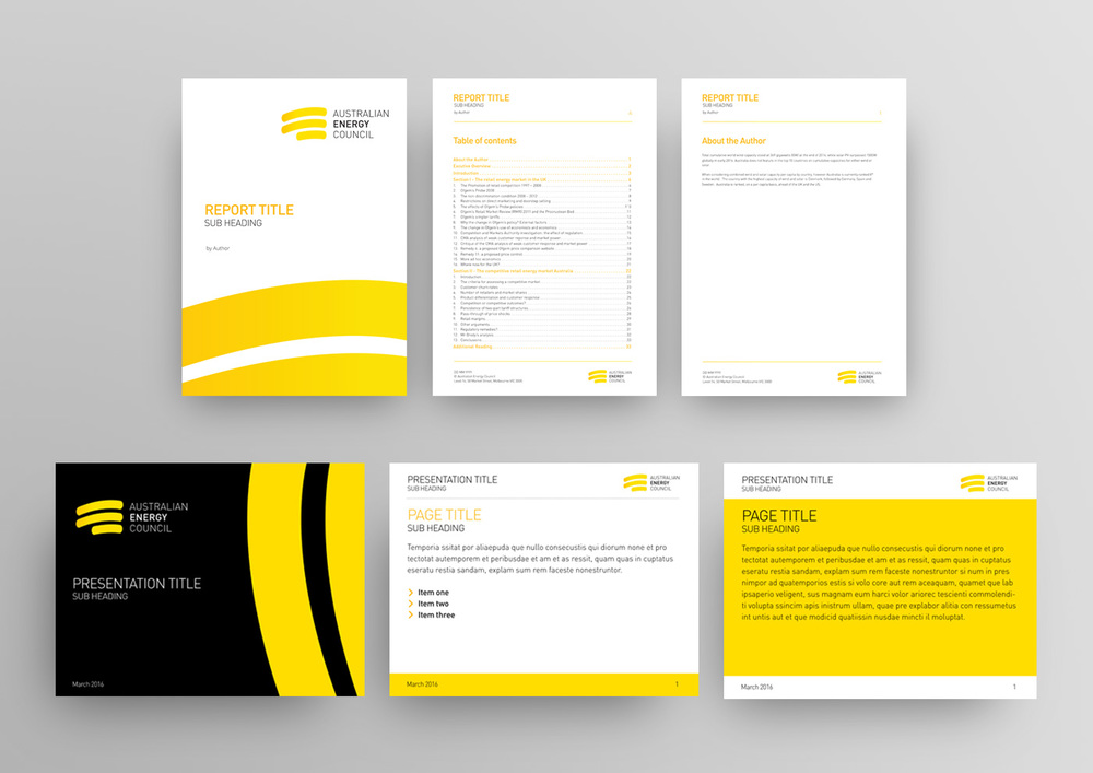 Extensive suite of Word report templates and PPT templates