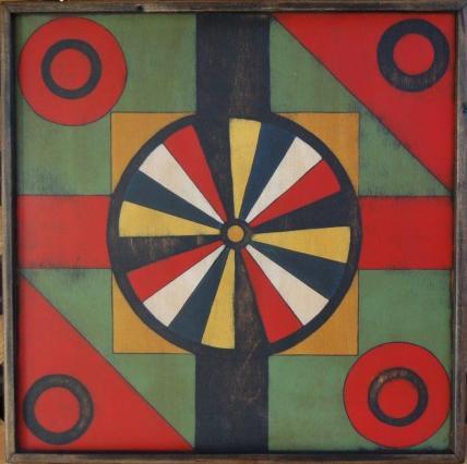 Wagon Wheel Dart Board