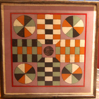 Gee's Bend Inspired Parcheesi Game Board - Loretta