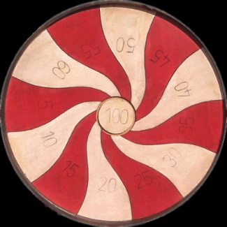 Penny Pitch Game Board Red and White