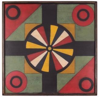 Wagon Wheel Penny Pitch Game Board