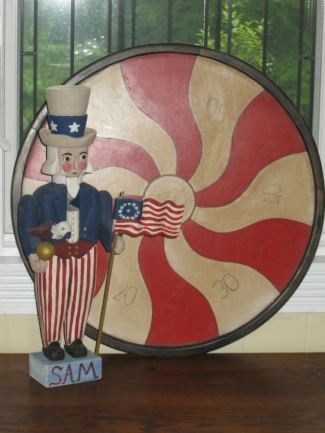 Penny Pitch Game Board Red White