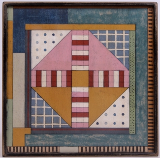 Gee's Bend Inspired Parcheesi Game Board Lucy