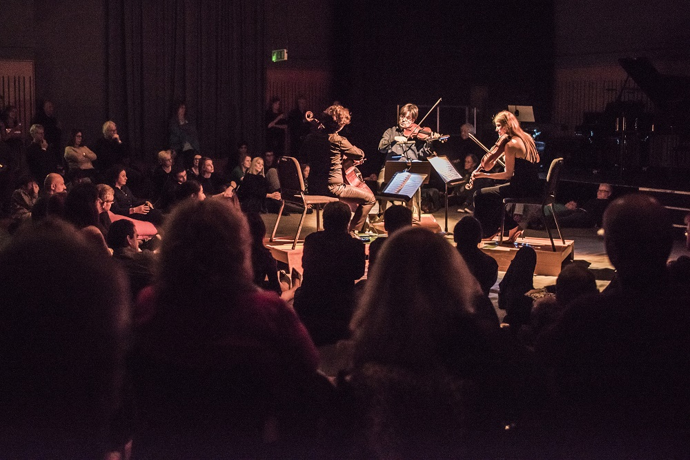 The Lock-In - Kings Place, King's CrossFriday 5 April, 9.15pm, £9.50Lie down amongst the musicians in this late-night, immersive performance from Aurora Orchestra's Lock-In series and experience the bold colours and rhythmic intensity of Bartók's Sonata for Two Pianos and Percussion up close. Bar open throughout.