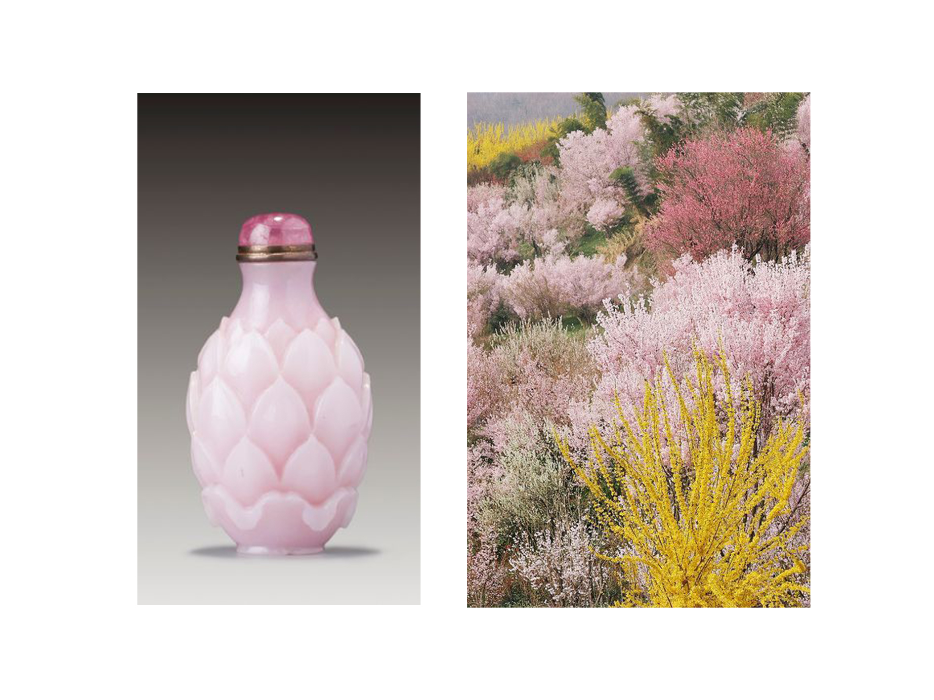 Extrait de parfums historically were sold in small, ornamental vials. Images via Sotheby's and The Coveteur