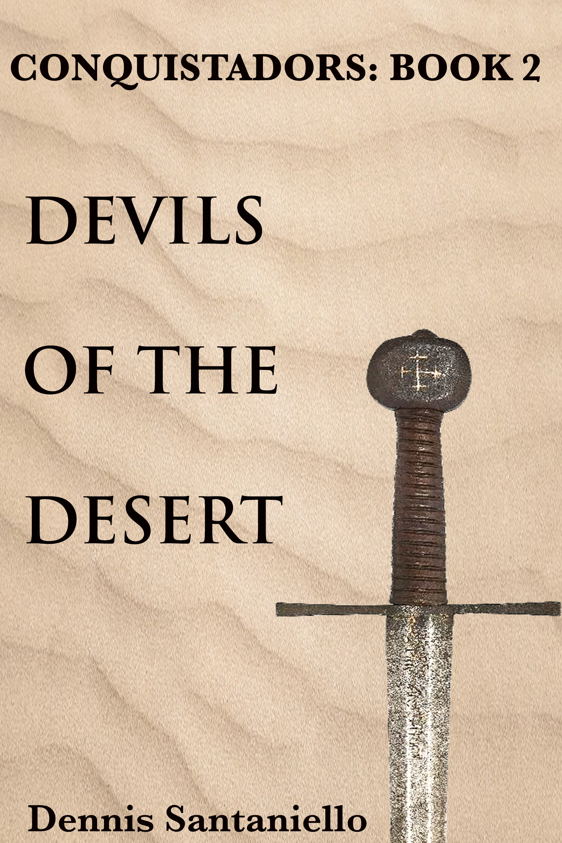 """DEVILS OF THE DESERT - BOOK 2: CONQUISTADORS TRILOGY Now a seasoned conquistador, Sardina joins the Coronado Expedition to find the Seven Cities of Gold. The desert, however, gives no quarter and proves to be just as cruel as the conquistadors themselves. But when the Spanish come across a strange mystic shaman named """"The Turk"""" their hopes and dreams return. And as their search continues, Sardina's passage through hell leads to his own spiritual awakening. For what the Turk has to show him will change him forever.AMAZONKOBOBARNES AND NOBLEiTUNES"""
