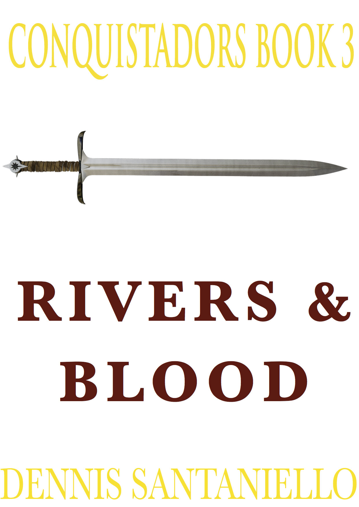 """RIVERS AND BLOOD - BOOK 3 CONQUISTADORS TRILOGYStill plagued by the desert Sardina finds his old comrade from Peru: Hernando de Soto, a ruthless man of pure evil. They play the final chess game of their lives, but as the game continues Sardina discovers Soto's tale: that of conquest, obsession and madness. And as the Soto expedition treks the wide and vast Mississippi River for their savage quest of glory and gold, the kingdoms of Cofitacheque, Coosa, Tuscaloosa, and their people will never be the same.Will Sardina finally find his fortune? All will be revealed in the """"Rivers and Blood""""."""