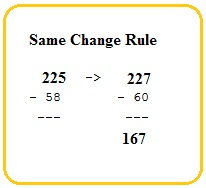 same change rule