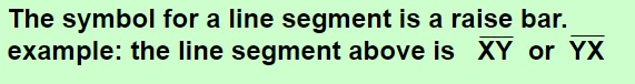 line segment symbol