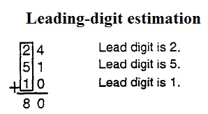 leading digit estimation