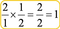 fraction multiply by its reciprocal