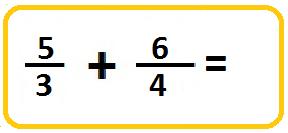 adding improper fractions with unlike denominators