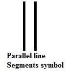 parallel line segments symbol