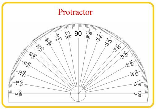 protractor 180 degrees