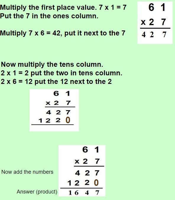 multiplying two digit numbers