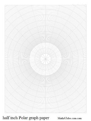 half inch polar graph paper