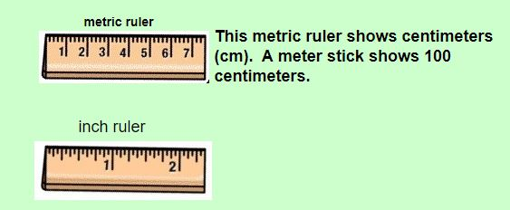 metric and inch ruler