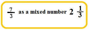 improper fraction turn to mixed number