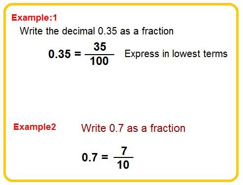 change decimals to fractions