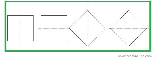 square lines of symmetry