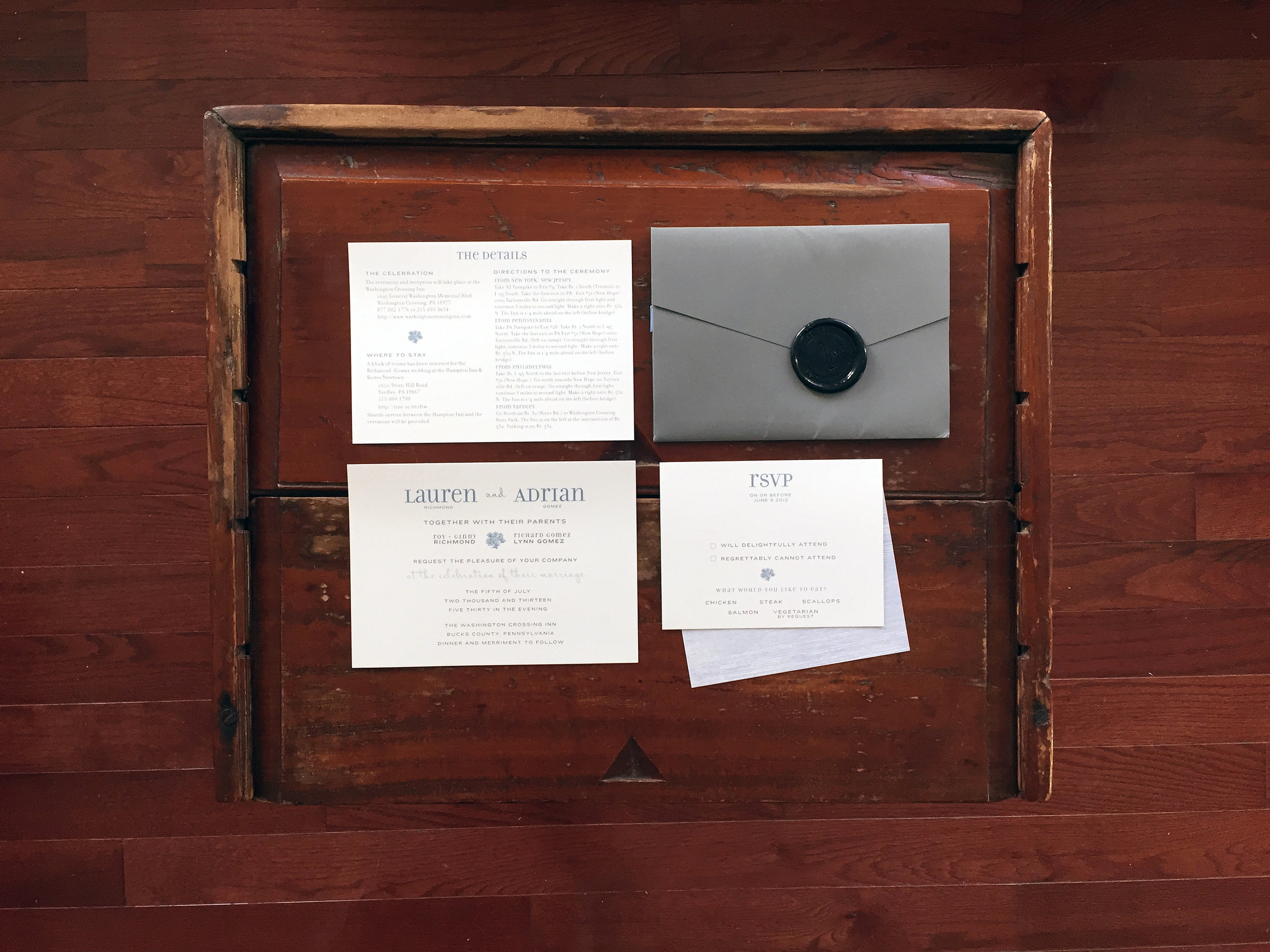 Casual 4th of July Wedding Invitations in Philadelphia
