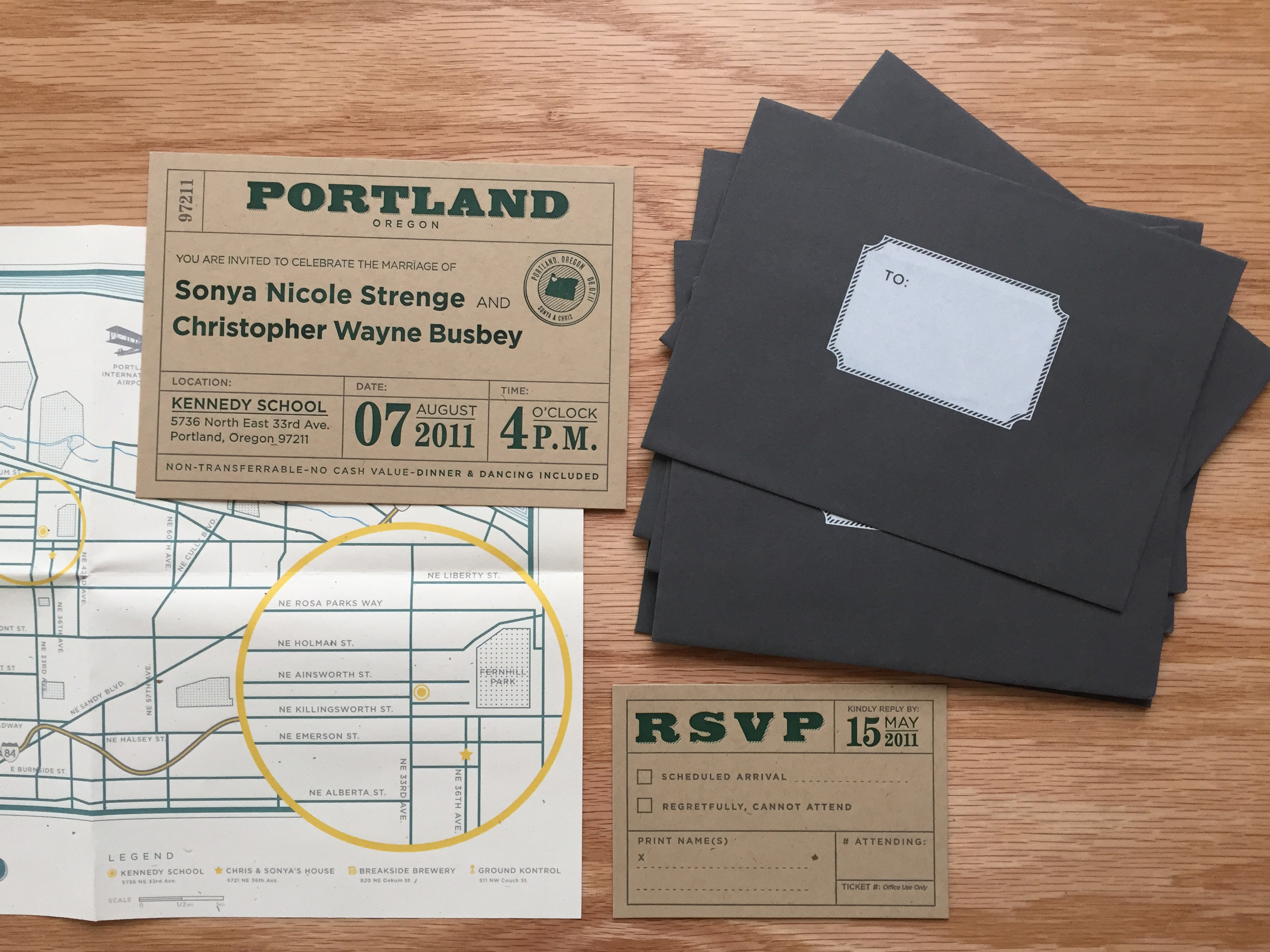 Letterpress Vintage Inspired Wedding Invitations