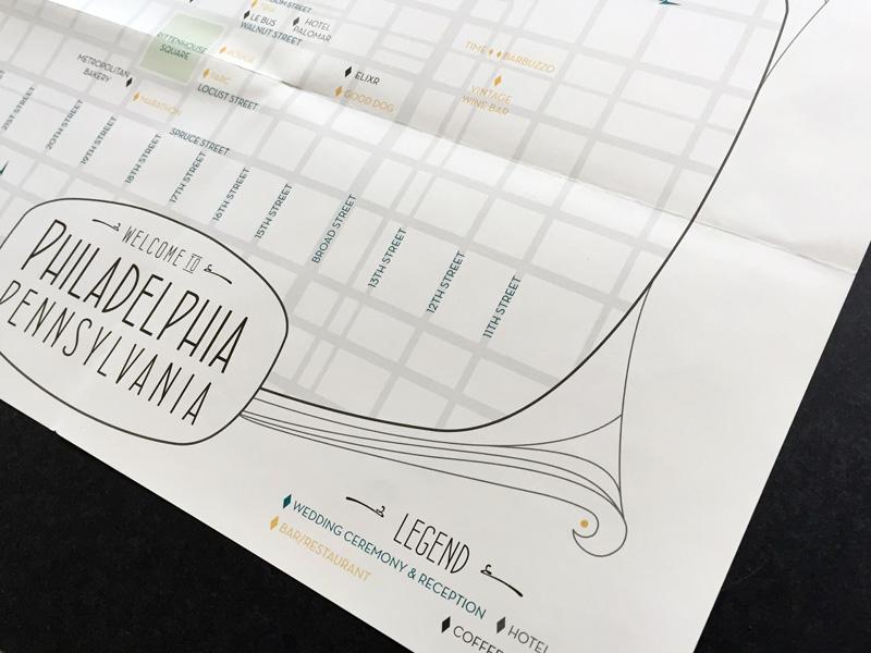 Art deco style wedding invitation design