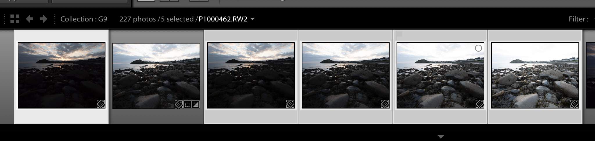 The highlighted images here are the original shots, showing the non-highlighted bracketed merge shot.