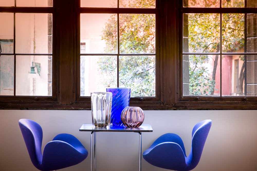 Yali Glass Design Vitrine #1 2018 Fiori Costa Dritta and Ritorto vases